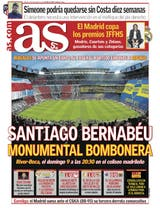 """Monumental Bombonera"", en la portada de AS"