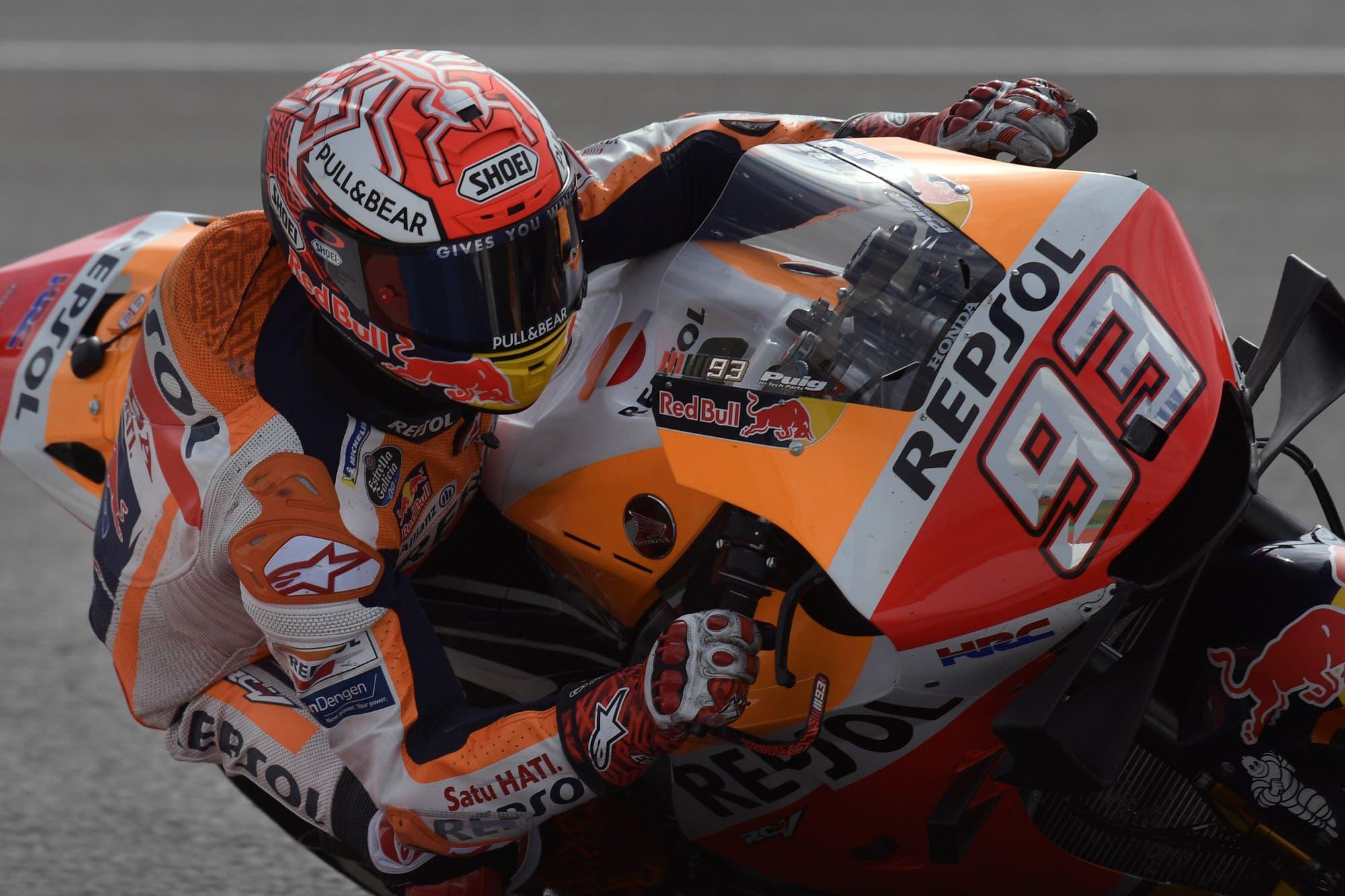 MotoGP en Argentina: le saltó un airbag y la cadena, pero igual Marc Márquez fue el más rápido en Termas