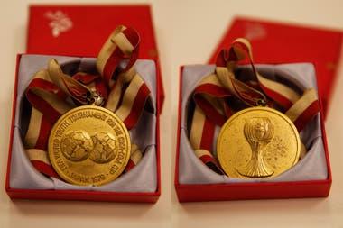 La medalla que recibieron los campeones del mundo en Japón 1979