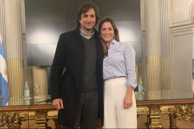 Junto a Eduardo Novillo Astrada, presidente de la Asociación Argentina de Polo