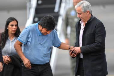Evo Morales junto al exvicepresidente de Bolivia