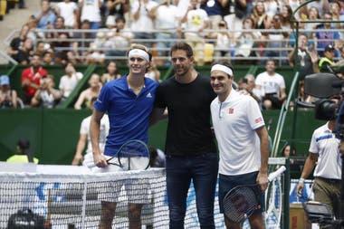 Del Potro, entre Zverev y Federer