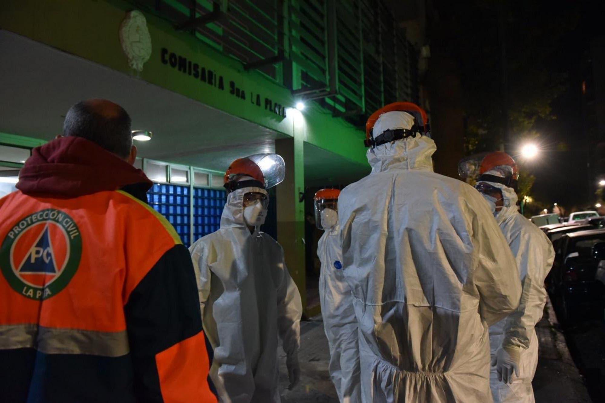 Coronavirus: operativo en una comisaría de La Plata donde hay al menos tres casos de Covid-19 confirmados
