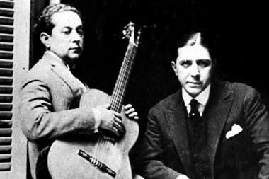 Carlos Gardel y José Razzano