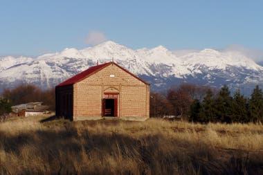 La capilla Bethel de Trevelin. En los tiempos de la llegada de los colonos era también un espacio para encuentros sociales