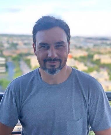 Mariano Puerta en la actualidad, en Miami; está radicado en EE.UU. desde 2014, da clases de tenis y se dedica al rubro inmobiliario.