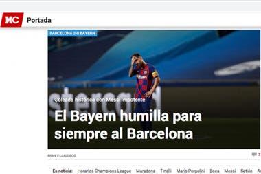 Marca, el diario deportivo más importante de España, contundente en el título y también en la imagen.