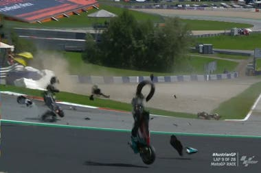 El impactante accidente en Austria, por el MotoGP