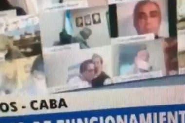 La escena del escándalo del diputado Juan Emilio Ameri en plena sesión virtual de la Cámara de Diputados. Un debate que terminó con otra polémica por la forma en que el kirchnerismo modificó un proyecto que tenía consenso