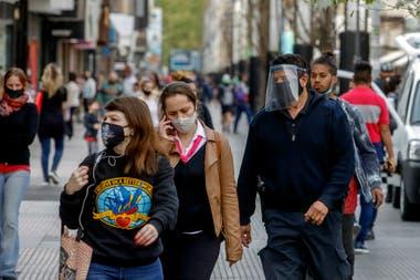 La calle peatonal Belgrano, en la localidad de San Martín