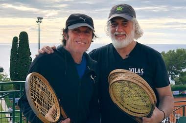 Guillermo Vilas con Eduardo Puppo, el hombre de la investigación