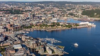 Imagen panorámica de Oslo, capital de Noruega