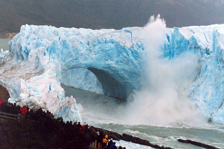 Ruptura del glaciar en el 2004
