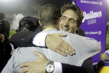 Benedetto y Guillermo celebran
