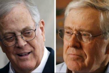 Los hermanos Koch (David y Charles) controlan un gigantesco conglomerado con intereses económicos y políticos