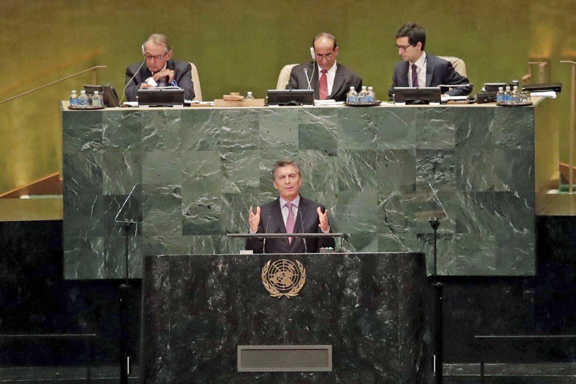 El día del paro general, Mauricio Macri cierra su gira en EE.UU. con su discurso ante la ONU