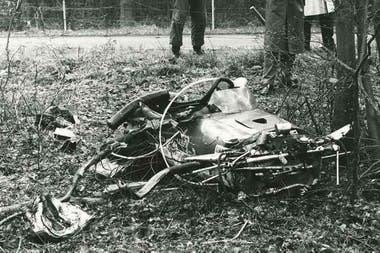 Así quedó el Lotus de Clark después del accidente mortal