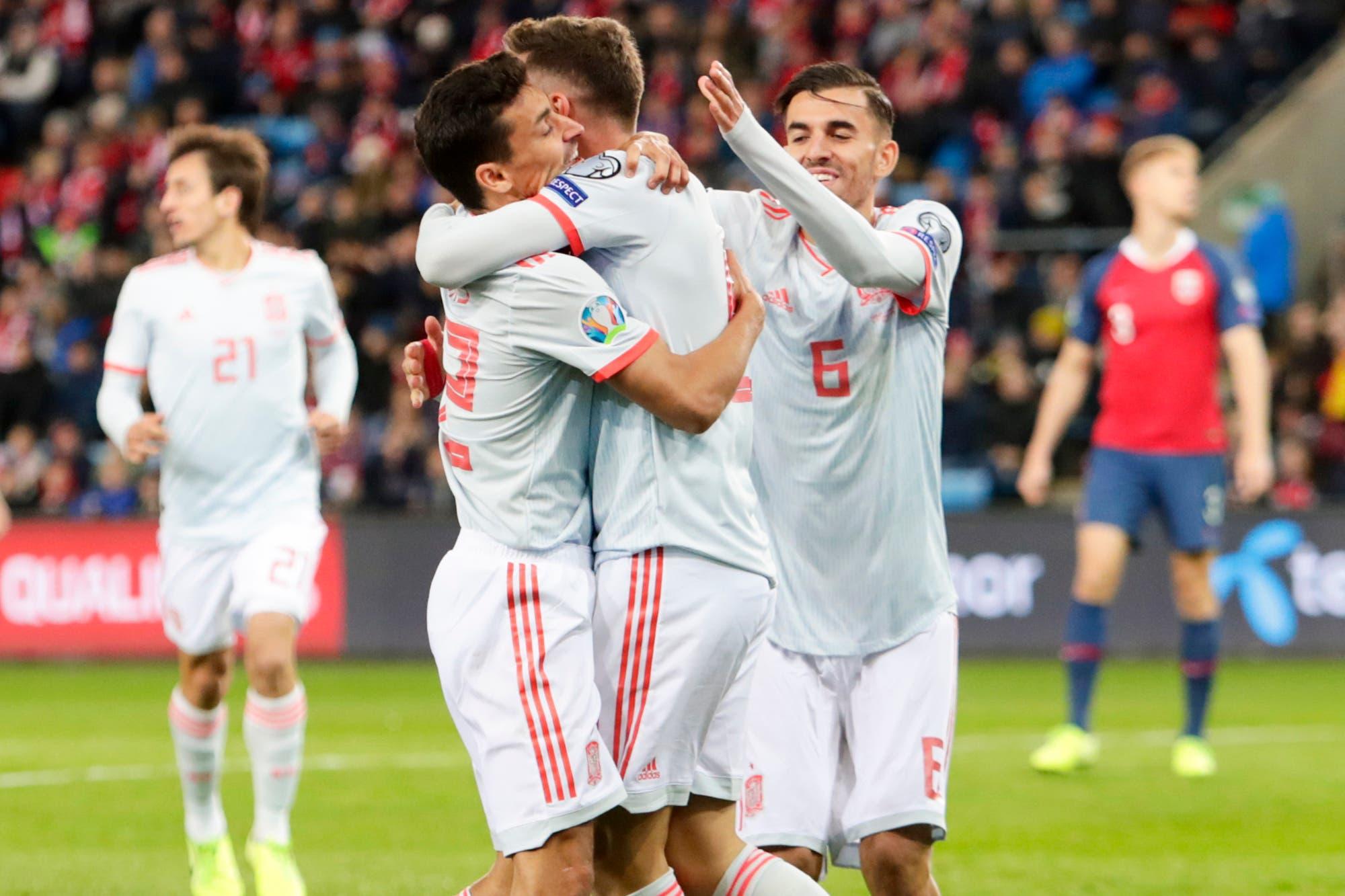 Eliminatorias Eurocopa 2020: España se clasificó con un gol sobre la hora y es la sexta selección en conseguir una plaza