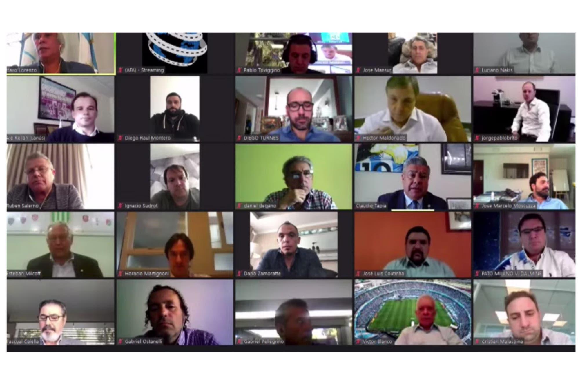 Las perlitas de la reelección virtual de Tapia en la AFA: el desconectado, el error de cálculo y el YouTube en vivo que no anduvo