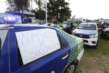 La protesta policial en el conurbano