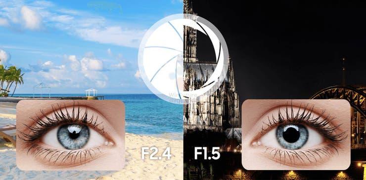 La apertura variable de la cámara del Galaxy S9 permite lograr mejores imágenes con poca luz (apertura f/1.5) o mucha luz (f/2.4)