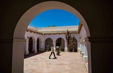 El patio del Museo de Cachi en la provincia de Salta.