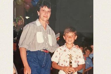 Martín Demichelis junto a su madre
