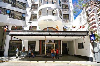 Frente del hotel donde fue detenido Campillo en la ciudad de Rosario