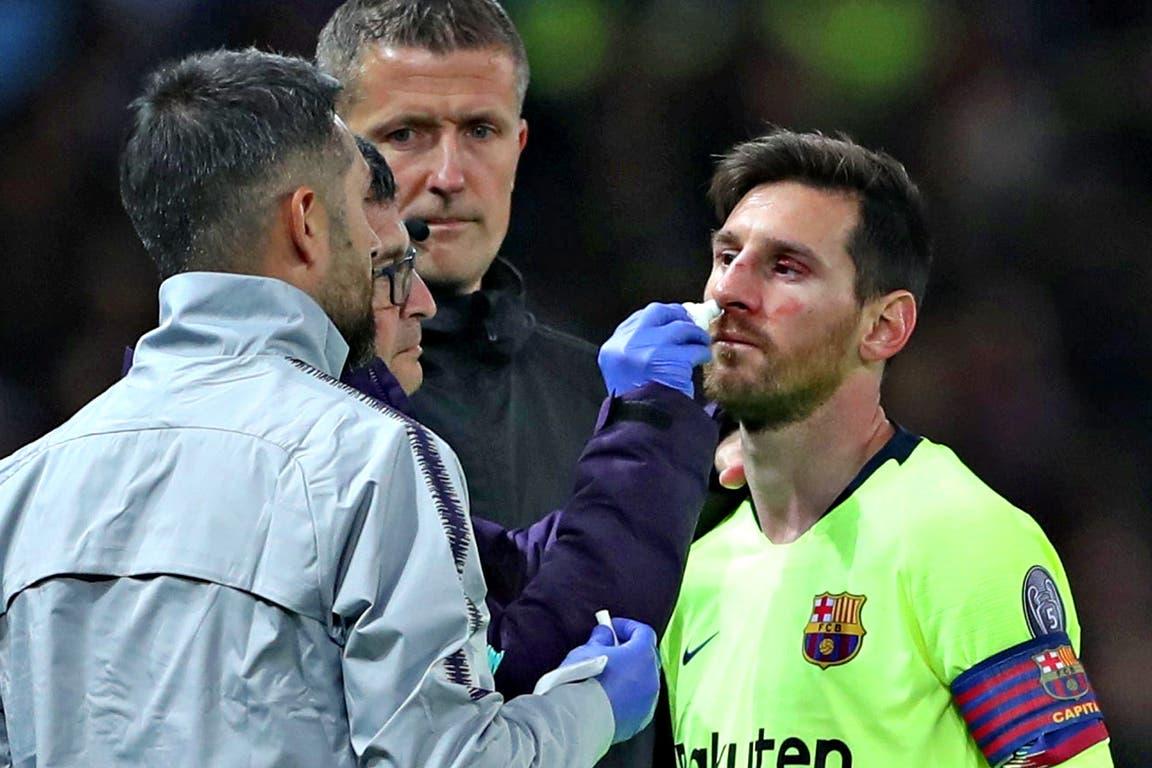 Lionel Messi recibe atención médica