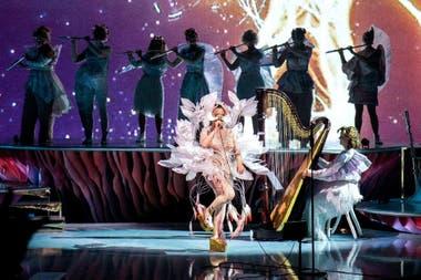 Björk en su última presentación de Cornucopia en The Shed, en Nueva York