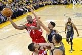 Kawhi Leonard., de Toronto, está dominando la serie ante Golden State; hasta el momento, no encontró oposición en los Warriors y Durant llega al rescate, pero con un riesgo muy grande