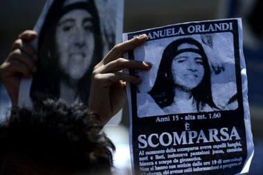 La familia de Emanuela Orlandi lleva tiempo haciendo campaña para que se sepa lo que pasó. Esta imagen es de 2012.