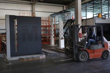 Prototipo de la puerta creada para el nuevo edificio del MoMA