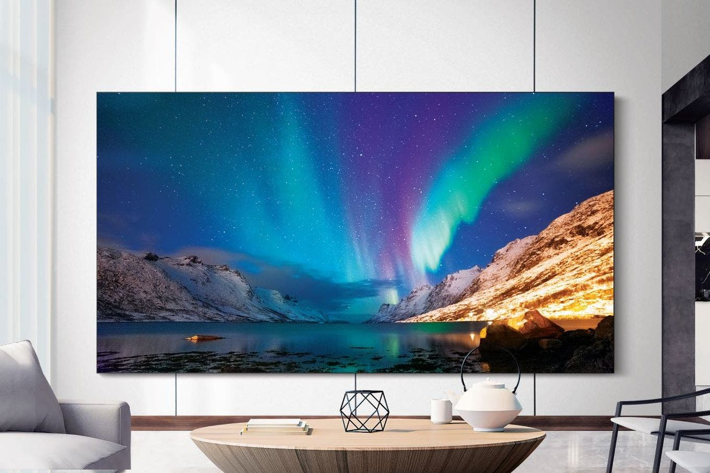 CES 2020: Samsung presentó una TV 8K sin marcos y otra que gira para ponerse vertical