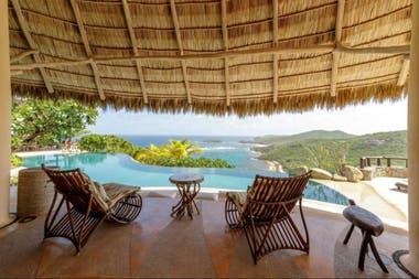 Vista de una de las villas de la exclusiva isla Mustique