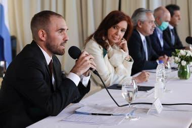 Martín Guzmán, Cristina Kirchner y Alberto Fernández