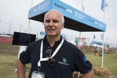 Alvaro Soldano, de la Conae, durante la última edición de Expoagro