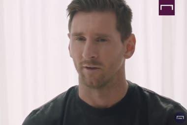 Messi comunicó su permanencia con una conversación en su casa, de Casteldefells, Cataluña.