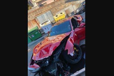 Federico Marchetti, el arquero del equipo italiano, quedó impactado al enterarse de que su Ferrari 812 Superfast quedó destruída