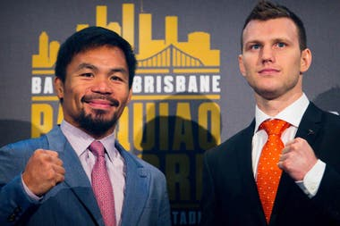 Manny Pacquiao expone su corona ante Jeff Horn