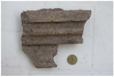 Fragmento de una moldura del Hotel Mar del Sud