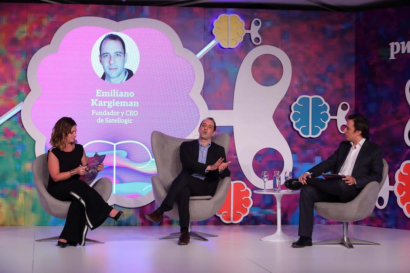 Martina Rua, Emiliano Kargieman y José Del Rio, en una de las charlas durante el evento