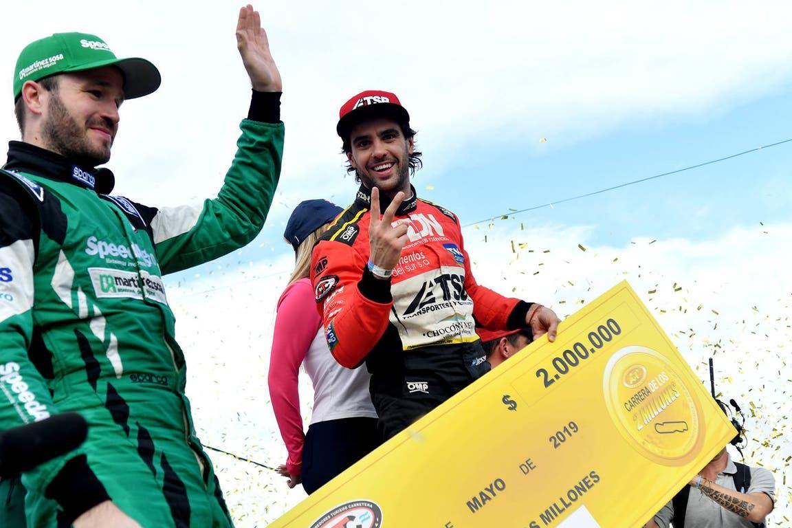 Urcera con el cheque de los dos millones de pesos, la carrera con mejores premios del calendario argentino