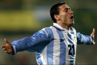 Otro festejo de la selección: en la Copa América de Paraguay 1999, frente a Uruguay