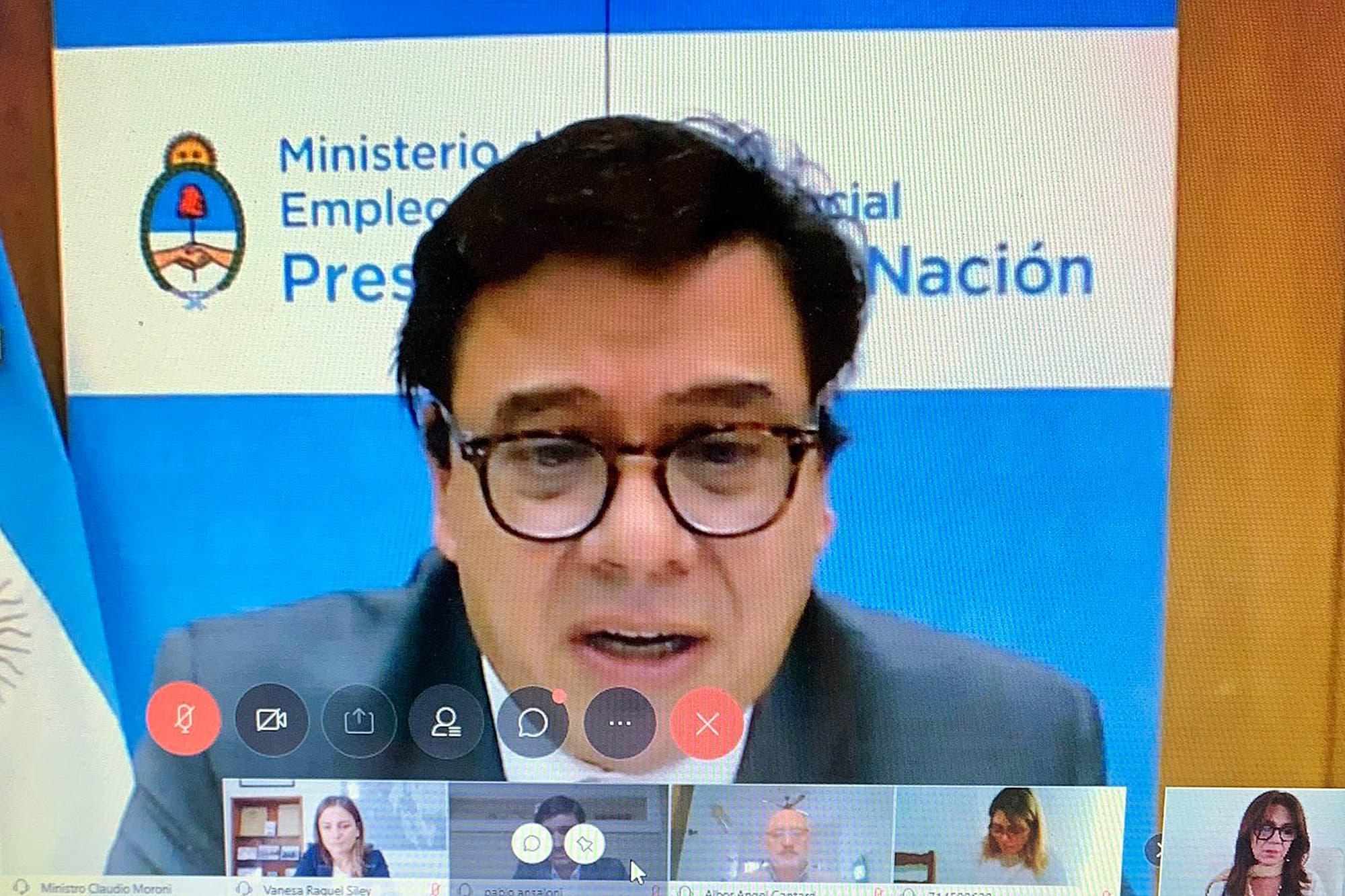 Coronavirus: el ministro de Trabajo Claudio Moroni apoyó el proyecto para regular el teletrabajo