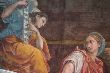 La pintura se encuentra en la Iglesia de Santa Maria della Pace, uno de los templos más lindos y menos conocidos de Roma