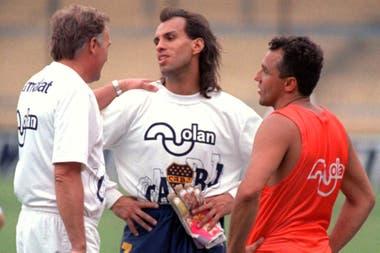 Boca, 1995: Marzolini, junto a Navarro Montoya y el Beto Márcico
