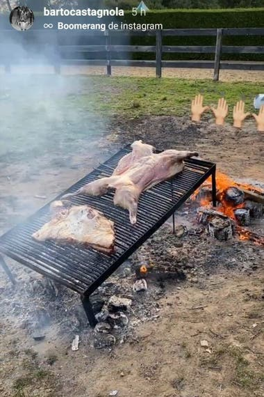El asado, infaltable luego de cada partido: el festejo de los Castagnola
