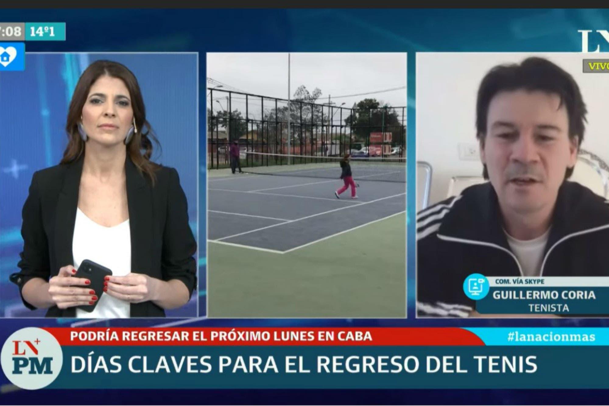 """Coronavirus: Para Guillermo Coria, es """"raro"""" que se haya habilitado el fútbol y no el tenis"""