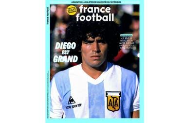 """Diego Maradona, a France Football: """"Sueño con poder marcar otro gol contra  los ingleses, ¡esta vez con la mano derecha!"""" - LA NACION"""